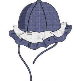Cangurino Dívčí klobouček s volánky - modro-bílý