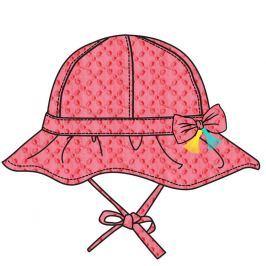 Cangurino Dívčí klobouček s mašličkou - růžový