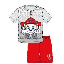 Disney by Arnetta Chlapecké pyžamo Paw Patrol - šedo-červené