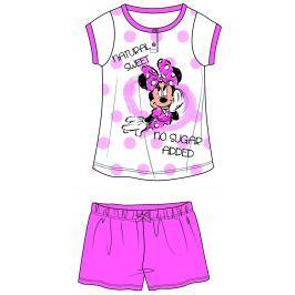 Disney by Arnetta Dívčí pyžamo Minnie - růžovo-bílé