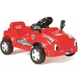 DOLU Velké šlapací auto s klaksonem Červené