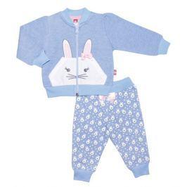 2be3 Dívčí tepláková souprava Bunny - modrá