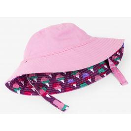Hatley Dívčí oboustranný klobouček se zmrzlinami UV 50+ - růžový