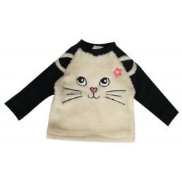 Carodel Dívčí mikina s kočičkou - béžová