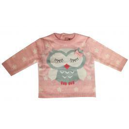 Carodel Dívčí svetr se sovičkou - růžový