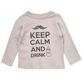 Garnamama Dětské tričko Keep calm - béžové