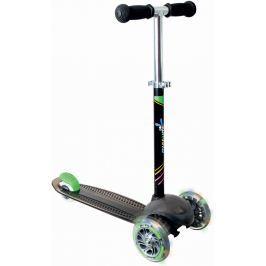 Authentic Sports Dětská tříkolka černá - se svítícími kolečky, průměr kol 120mm a 80mm