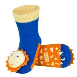 SOXO® Dívčí protiskluzové ponožky se sluníčkem - barevné