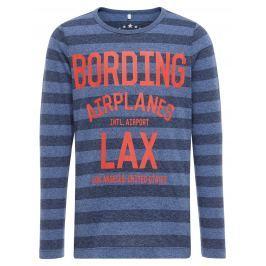 Name it Chlapecké pruhované tričko s nápisem - modré