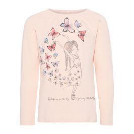 Name it Dívčí tričko s motýlky a holčičkou - růžové