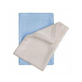 T-tomi Bambusové žínky - rukavice, natur+blue / natur + modrá