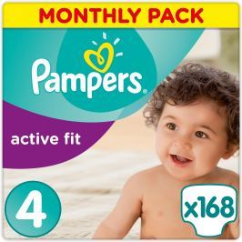 Pampers Pleny Premium Protection Active Fit 4 Maxi 168 ks