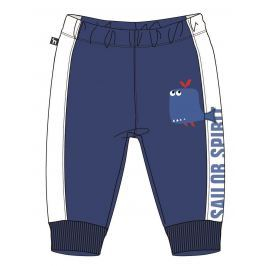 Mix 'n Match Chlapecké tepláky s velrybou - modré