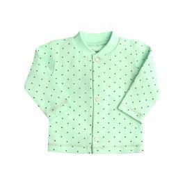 Nini Dívčí puntíkovaný kabátek - mentolový