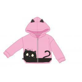 Mix 'n Match Dívčí mikina s kočičkou - růžová