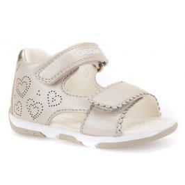 Geox Dívčí sandály Tapuz - béžové