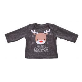 Lafel Dětské tričko Merry Christmas - černé