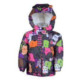 PIDILIDI Dívčí zimní bunda se zvířátky - barevná