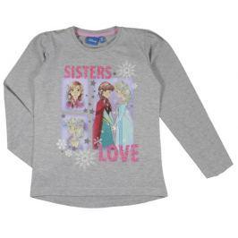 E plus M Dívčí tričko Frozen - šedé