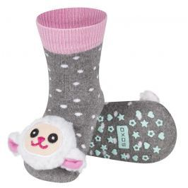 SOXO® Dívčí protiskluzové ponožky s ovečkou - šedé