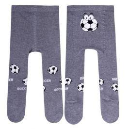 STEVEN Chlapecké punčocháče Fotbal - šedé