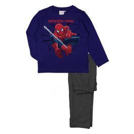 E plus M Chlapecké pyžamo Spiderman - modro-šedé