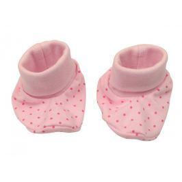 Nini Dívčí puntíkované capáčky - růžové