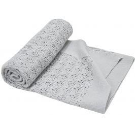 EKO Letní pletená deka - Šedá