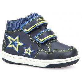 Geox Chlapecké kotníkové tenisky s hvězdami New Flick  - tmavě modré