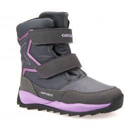 Geox Dívčí zimní boty Orizont  - šedé