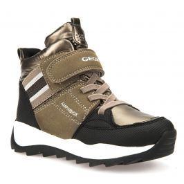 Geox Dívčí zimní boty Orizont  - zlaté