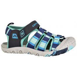 ALPINE PRO Chlapecké sandály Jim - modro-zelené