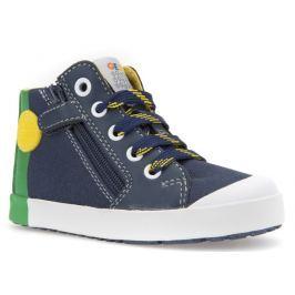 Geox Chlapecké kotníkové tenisky Kilwi - modro-zelené