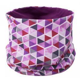 Unuo Dívčí nákrčník Trojúhelníky v šestihranu - fialový