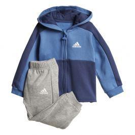 adidas Chlapecká teplíková souprava Linear Hoodie - modro-šedá