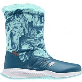 adidas Dívčí sněhule Frozen - petrolejové