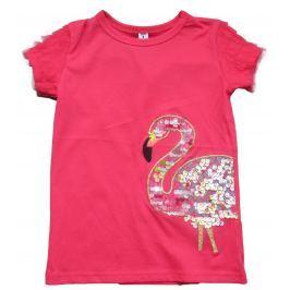 Carodel Dívčí tričko s plameňákem - růžové