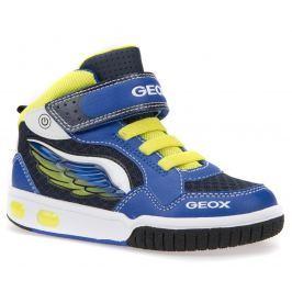 Geox Chlapecké kotníkové tenisky Gregg - modro-žluté