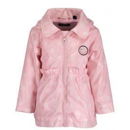 Blue Seven Dívčí kabát s puntíky - růžový