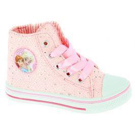 Disney by Arnetta Dívčí kotníkové tenisky Frozen - růžové