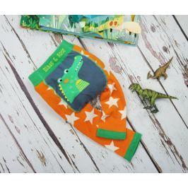 Blade & Rose Chlapecké legíny s krokodýlem - oranžovo-zelené