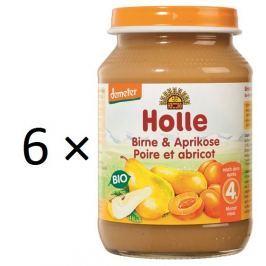 Holle BIO příkrm hruška a meruňka 6x190g