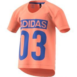 adidas Dívčí tričko Favorites - lososové