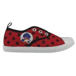 Disney Brand Dívčí plátěné tenisky Ladybug - červené