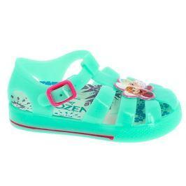 Disney by Arnetta Dívčí gumové sandály Frozen - zelené