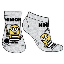 E plus M Chlapecké ponožky Mimoni - šedé