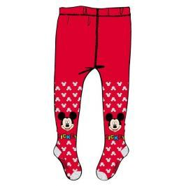 E plus M Dívčí punčocháče Mickey Mouse - červené