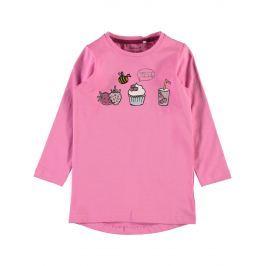 Name it Dívčí tunika s dortíkem - růžová