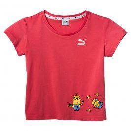Puma Dívčí tričko Mimoni - červené