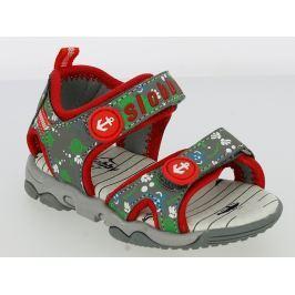 V+J Dětské sandály s mořskými zvířátky - šedo-červené